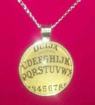 OUIJA BOARD Necklace, Symbol of Spiritualism, Choice of Chain, Plus Choice of Bonus Earrings, New