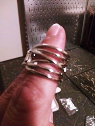 Silver stretch ring