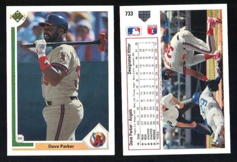 1991 Upper Deck Dave Parker #733 - Sledgehammer! - California Angels