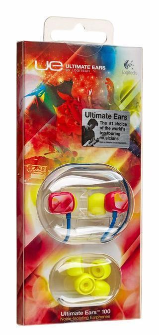 Logitech Ultimate Ears 100 Noise-Isolating In Ear Headphones Earbuds - Pink Haze