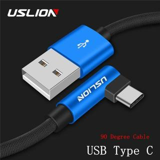 Right Angle 90 Degree Universal Braided Type C USB-C Sync Charger Charging Cable