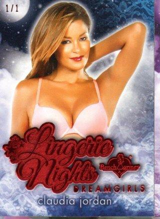 2017 Benchwarmer Claudia Jordan Dreamgirls Lingerie Nights Red 1/1