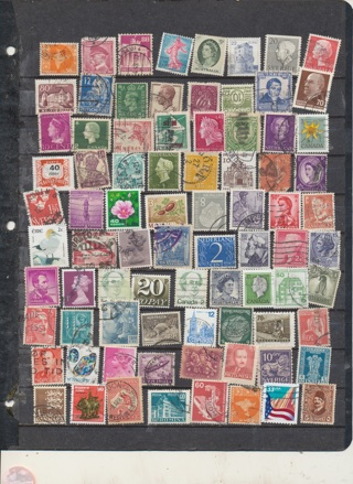 Collection of 70 Stamps from Around the World, Mint, Cancelled, Old, Newer, Exc Variety - WW-327