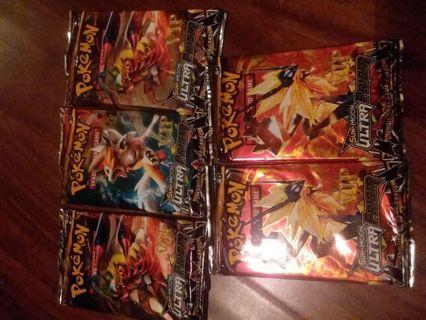 5 Pokemon booster packs