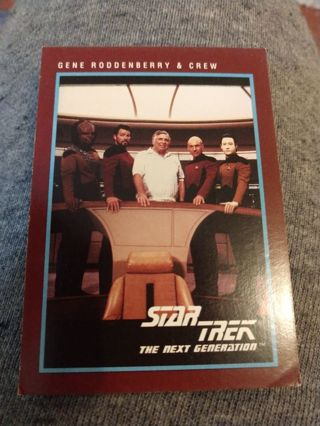 Star trek card - Gene Roddenberry & Crew