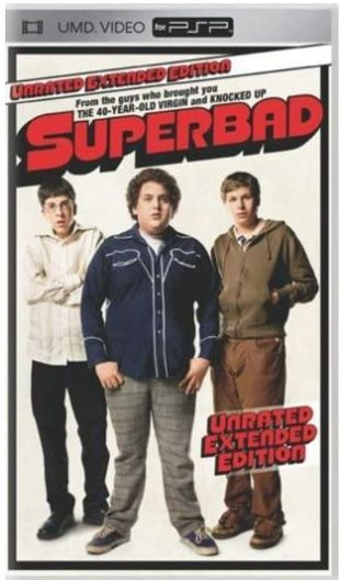 Superbad Unrated Extended Edition UMD Video for Sony Playstation Portable PSP