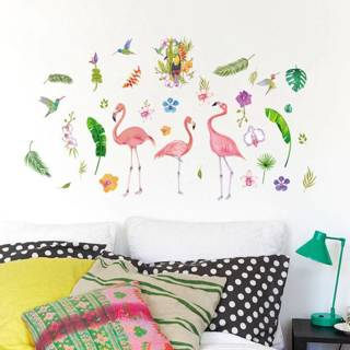 Modern Flamingo Bird Wall Sticker Decal Mural DIY Art Vinyl Removable Home Decor