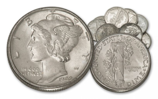 One Mercury Silver Dime Coin - Valuable Coin Collection