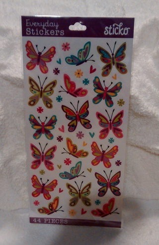 NEW BUTTERFLY SCRAPBOOKING STICKERS!! AUCTION #2