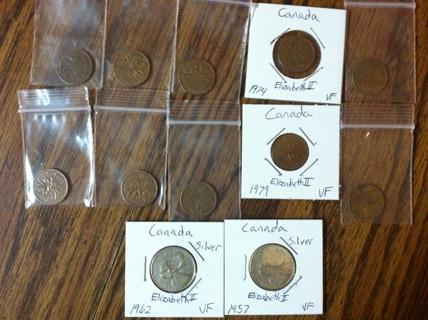 Canada coin lot #2 W/Silver also!!