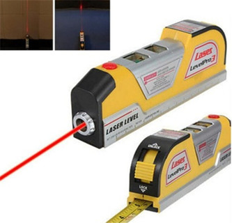 LV02 Laser Level Horizontal Vertical Line Measure Measuring Tape 8 FT