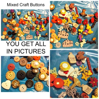 CRAFTING - ASSORTED Basic & Shaped Button Lot - YOU GET ALL IN AD! Free Shipping