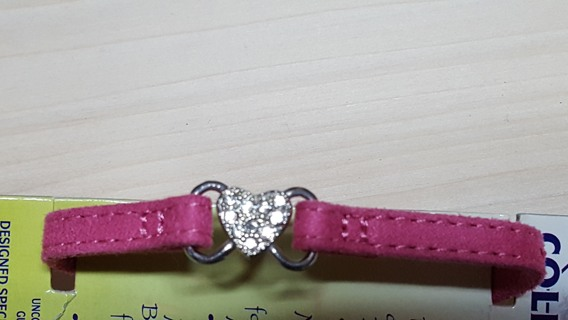 "6""-8"" Pink collar with Heart"