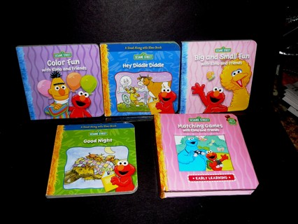 5 Small Different Sesame Street Hard Books Learning Books