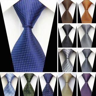 "Man Formal Business Silk Necktie Jacquard Woven Men Suit Ties Geometric Dots Pattern 3"""