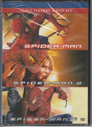 Think Xmas! Triple Feature Spiderman 1, 2, and 3!  Brand New DVD still in wrap!