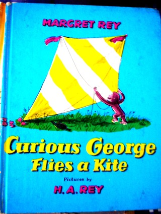 Collectible Vintage 1958 Curious George Flies a Kite Book