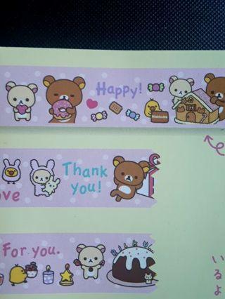 "SanX ""2014'~""Rilakkuma"" Washi Tape, Paper Tape *Only One, Available!!* ☆Kawaii Bonus☆"