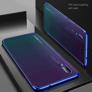 Electroplate Clear Soft Case For Huawei mate20lite Psmart plus P20 P9 P10 Y5 2018 Nova 3 3i 2plus
