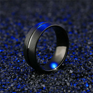 Men&Women Stainless Steel Band Ring Fashion Titanium Bridal Engagement Size 6-13