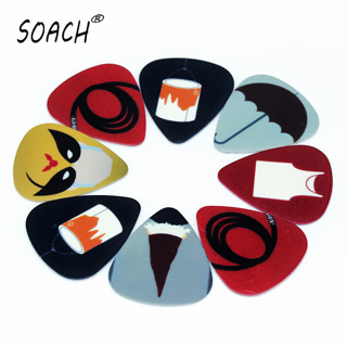 SOACH 10PCS1.0mm high quality guitar picks two side Simple personality picture picks earrings DIY