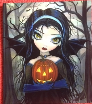 "BIG EYES WITH BATWINGS !! - 5 x 4"" MAGNET"