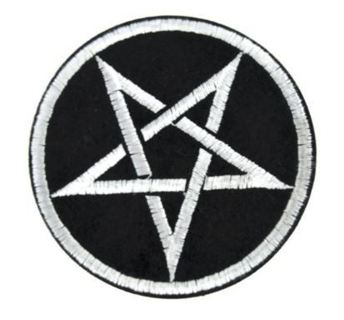 1 NEW Pentacle Pentagram Star IRON ON Patch Clothing Embroidery Applique Wicca FREE SHIPPING