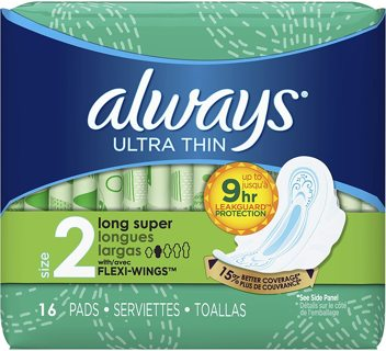 Always Ultra Thin Super Pads With Wings