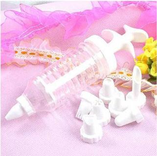1 Set Cake Icing Decoration Syringe Useful Piping 8 Tip Nozzle Kit Kitchen Tools