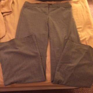 Grey with light blue stripe dress pants