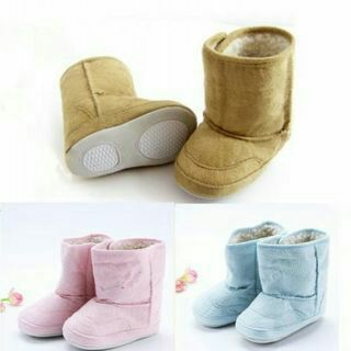 Baby Infant Boys Girls Warm Fleece Fur Winter Toddler Crib Shoes Snow Boots New