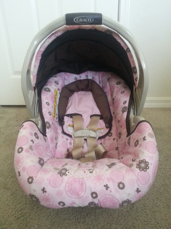 Brown And Pink Graco Infant Car Seat