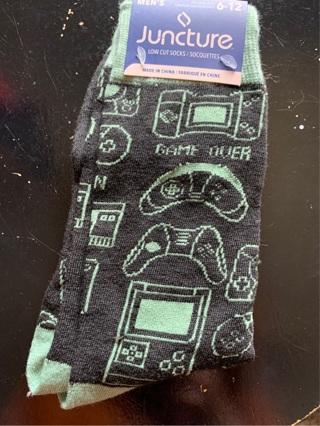 NWT Men's Game Over Socks Green/Black