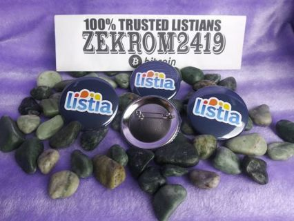 """✦ x1 L.I.S.T.I.A Pinback Button ✦High Quality 2.25"""" Limited Editions"""