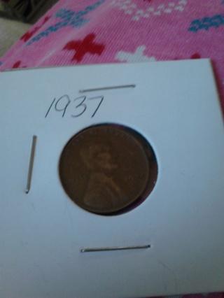 1937 Wheat Penny