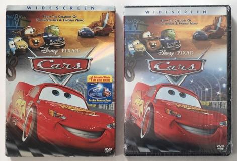 Disney Pixar Cars DVD Movie with Slipcase - Brand New Factory Sealed!!