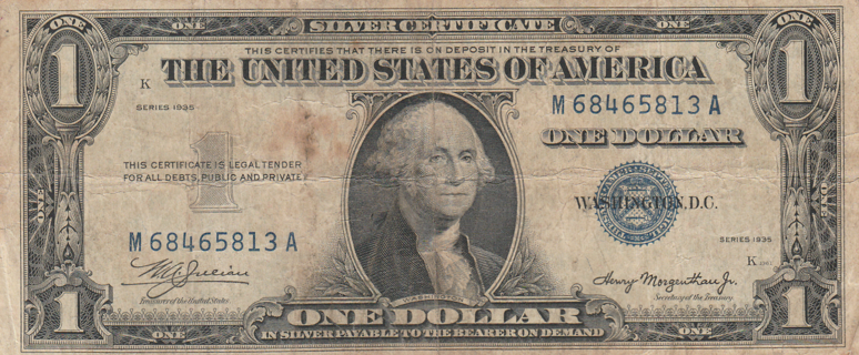 $1 Silver Certificate Series 1935