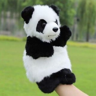Funny Panda Hand Puppet Plush Doll Story Telling Toy Educational Kids Gifts