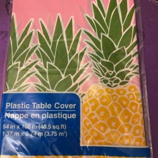 Pineapple Plastic Tablecloth