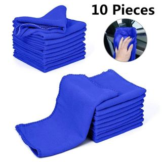 10Pcs/set Car Cleaning Microfiber Towel Car Cleaning Drying Cloth Soft Cloths