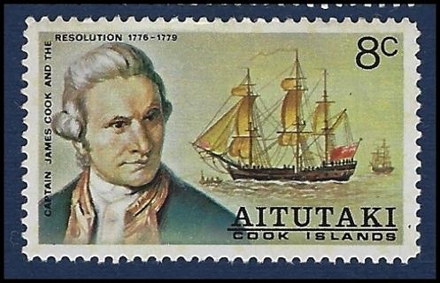1974 Aitutaki (Cook Isl) stamps (2) MH/VF, Scott #s 100, 101
