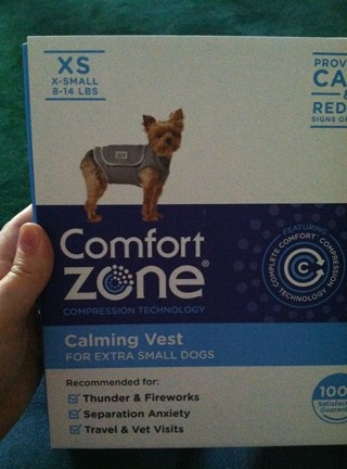 Calming vest for x-small dog
