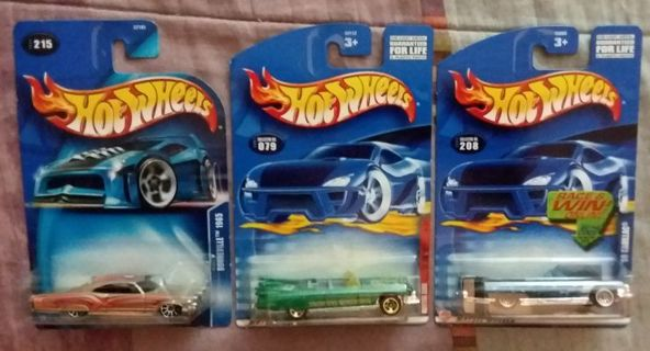 Lot of 3 Hot Wheels Lowriders Cadillac & Bonneville
