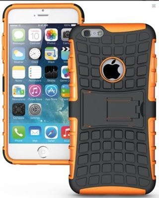 NEW iPHONE 6 PLUS HYBRID Case Scratch-Resistant Shock Absorbent Non Slip Tire Grip & Stand