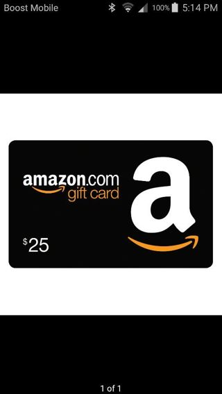$25 AMAZON E GIFT CARD ONE DAY ONLY