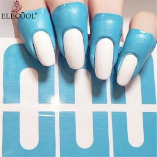 ELECOOL 10pcs U-shape Nail Form Guide Sticker Nail Polish Varnish Protector Stickers Manicure Tool