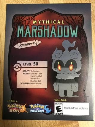 Mythical Marshadow Pokémon Sun/Moon Code