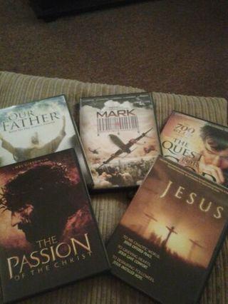 Christian film lot dvds. 5 dvds winner takes ALL!