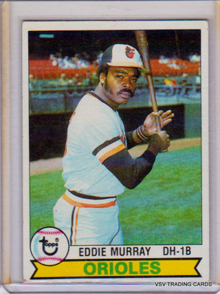 EDDIE MURRAY, 1979 Topps Card #640, Baltimore Orioles, Hall of Fame