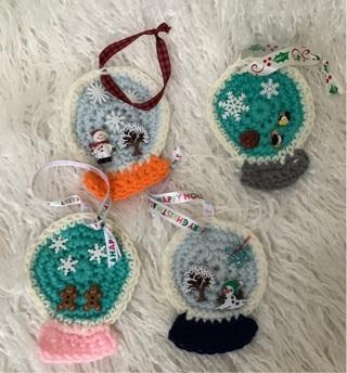 Cute globe shaped ornaments